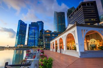 Fotomurales - Beuatiful sunrise in the morning at Singapore