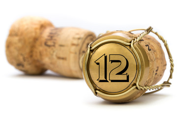 Champagnerkorken Jubiläum 12 Jahre