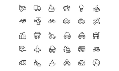 Transportation Vector Icons 1