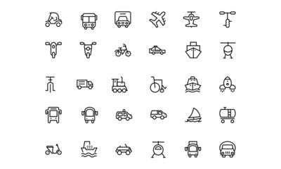 Transportation Vector Icons 2