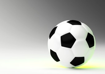 Soccer ball with green light
