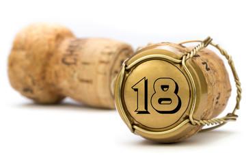 Champagnerkorken Jubiläum 18 Jahre