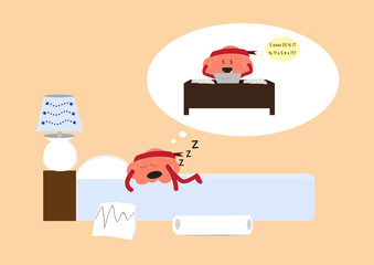 brain sleeping
