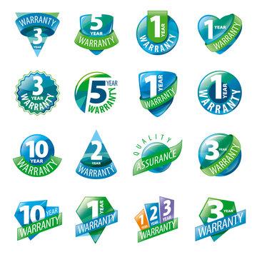 large set of vector logos guarantees