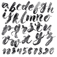 Handmade Roman alphabet