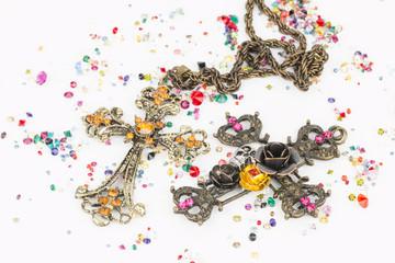 Religious cross - Stock image macro.