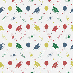 Seamless Graduation Celebration Pattern Background