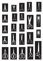 scissors white and black