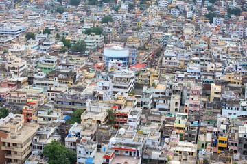 Aerial view of Vijayawada city