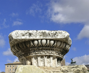 detail of capitals in Rome, Italy