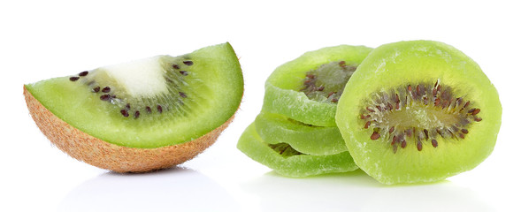 Fresh and Dried Kiwi isolated