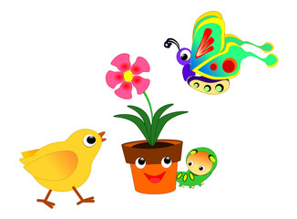Flowerpot and friends