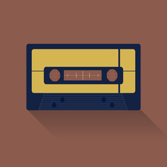 Audio cassete icon great for any use. Vector EPS10.