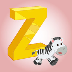 Z Zebra Alphabet icon great for any use. Vector EPS10.