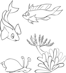 Coloring with Tropical Fish