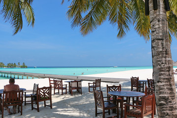 restaurant with sea view on Maldives