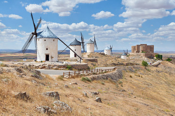 Famous windmills of Consuegra, Toledo province, Spain