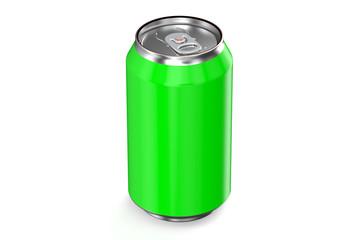 green drink metallic can