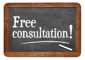 Free consultation blackboard sign Wall mural