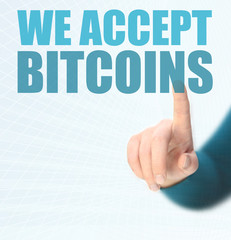 We accept bitcoins
