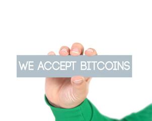 We accept bitcoins