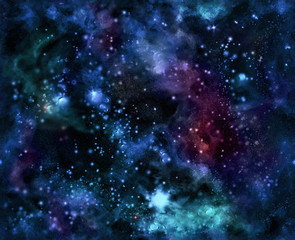 Outer Space Seamless Digital Pattern