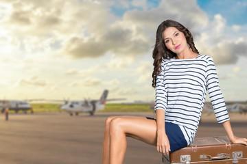 Woman, travel, traveller.
