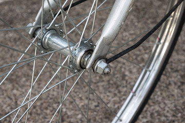 old bicycle wheel with hub