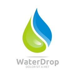 Logo Water Drop Symbol Icon Vector Business