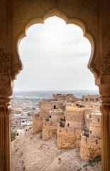 Foto auf Leinwand Befestigung Jaisalmer fort view