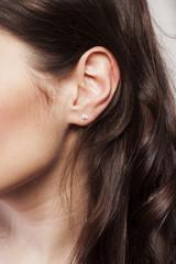 Woman's ear close up