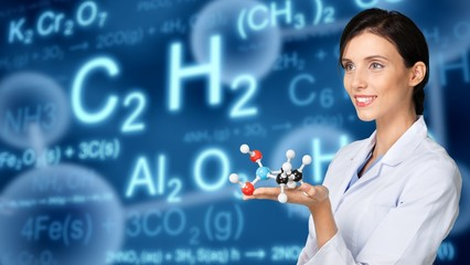 Laboratory, Scientist, Molecule.