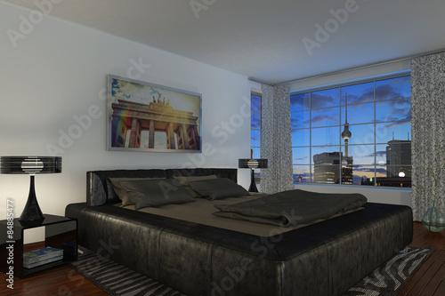 modernes Schlafzimmer - Hotelzimmer\