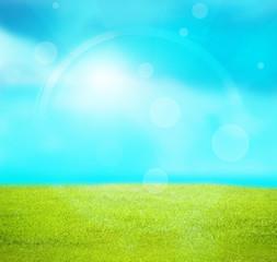 Keuken foto achterwand Lime groen summer landscape background