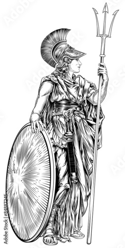 Athena Greek Goddess Stock Image And Royalty Free Vector Files On