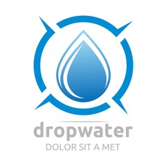 Logo drop water vector shapes symbol