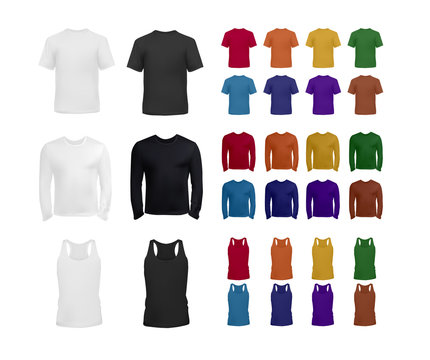 Big blank t-shirt and top collection for men