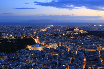 Night Athens, Greece