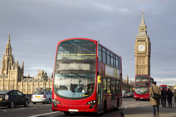 Garden Poster London red bus UK - London - Red Double Decker Bus