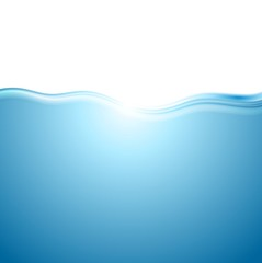 Abstract blue water wave background