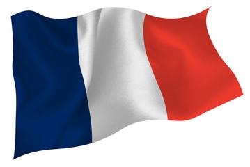 フランス  国旗 旗 Fotobehang