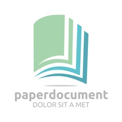 Logo document book study dictionary icon vector