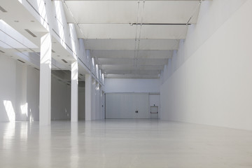White industrial warehouse
