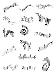 Music swirl set