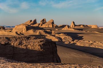 Rock formations in Lut Desert. Dasht-e Lut or Lut Desert (also Kalut Desert). Iran.
