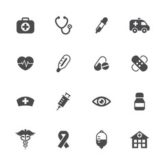 Vector illustration of medical icons set