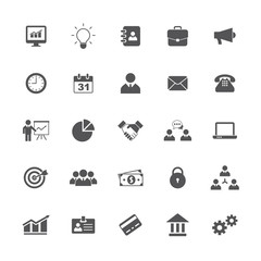 Business icons set. Vector illustration