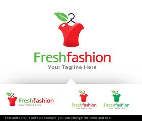 Fresh Fashion Logo Design Template - Vector
