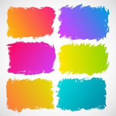 Watercolor splatters. Grunge vector illustration
