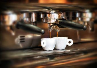 Italian espresso machine in a restaurant